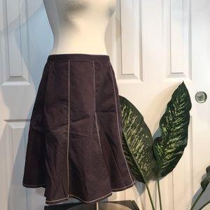 HORNY TOAD eggplant purple a line skirt